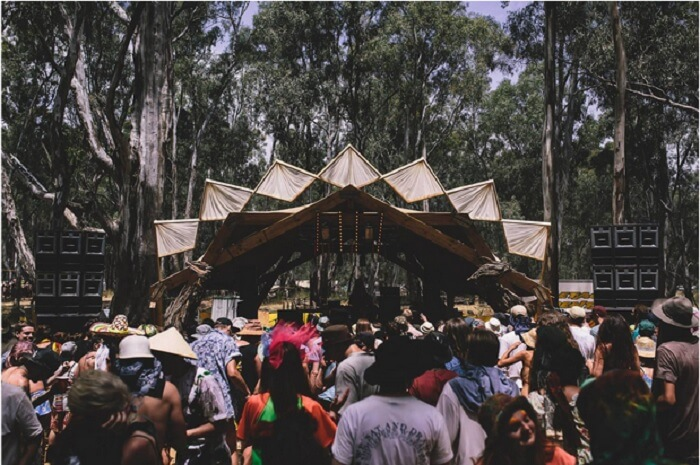 People flocking at Strawberry Fields Festival