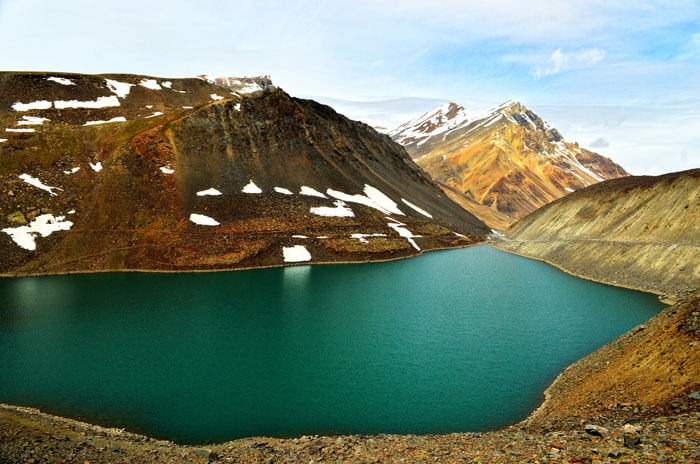 The stunning beauty of Suraj Tal Lake in Himachal Pradesh