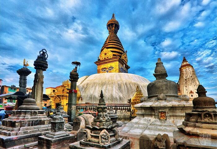 Swayambhunath temple is among the best Nepal places to visit near Kathmandu valley
