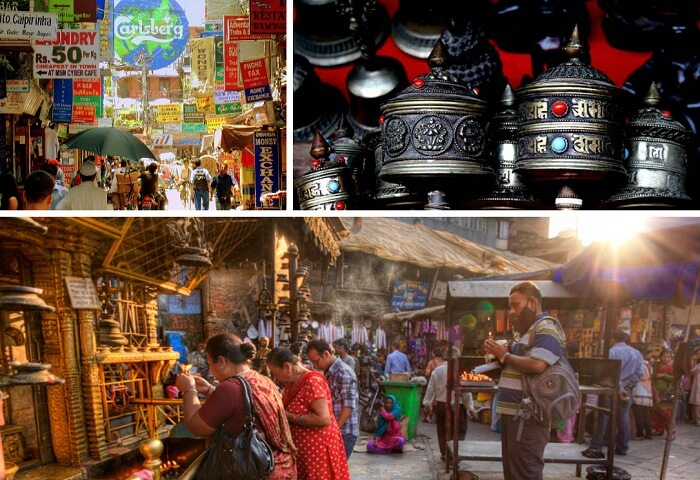 The many views of the Thamel market area in Nepal