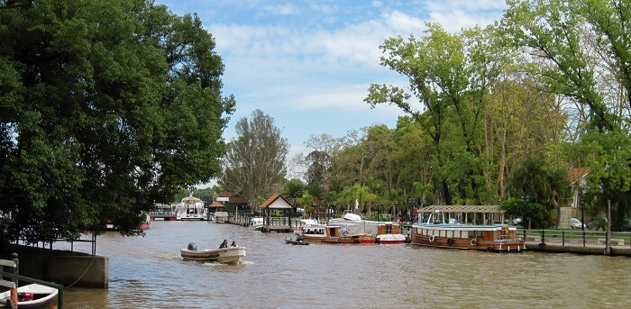 The waters at Tigre in Argentina