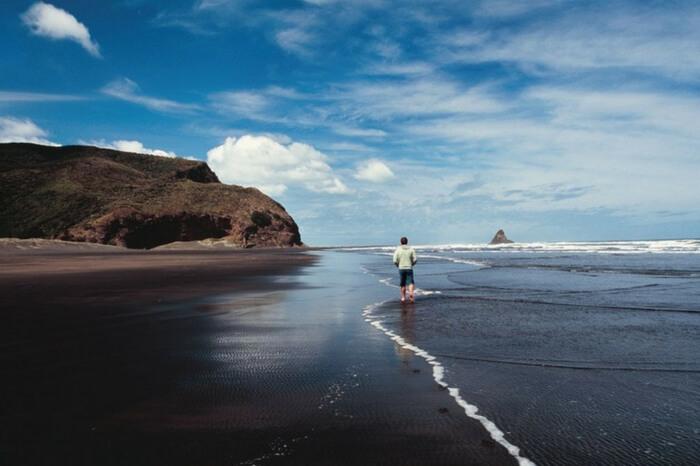 Karekare beach in West Auckland