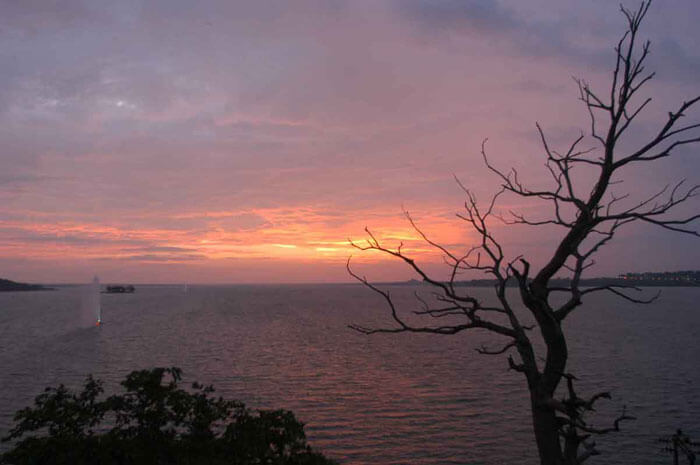 The beautiful sunset at Upper Lake in Bhopal
