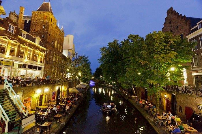 The glittering bays of Utrecht in Netherlands