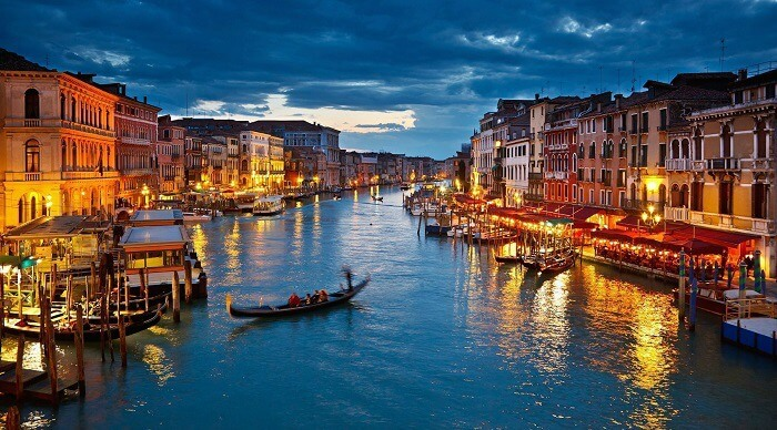 The most famous canal city of Venice in Italy