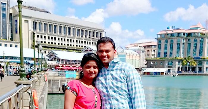 Harshvardhan on his honeymoon in Mauritius