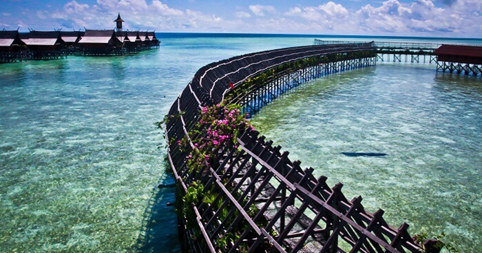 The beautiful bridge at the Sipadan Island