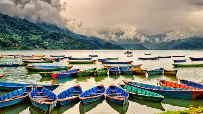 Boating facilities in at Phewa Tal in Pokhara