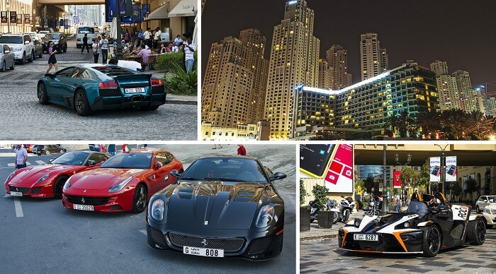 Jumeirah Beach Residence is filled with people boasting off their best sports cars