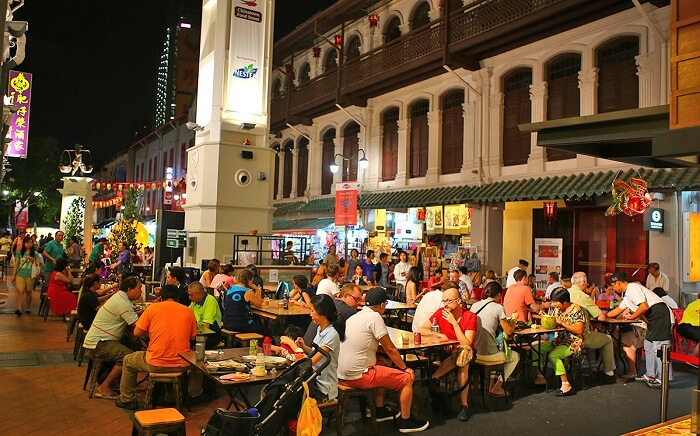 The hawkers at Chinatown serve great food