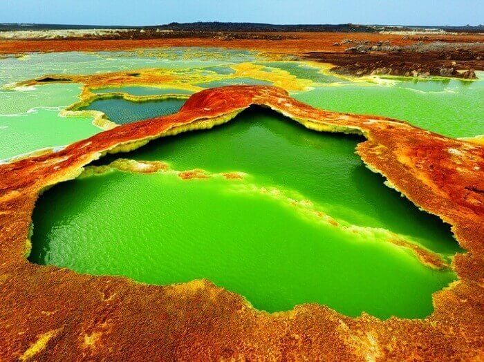 The hottest water body at Dallol Town