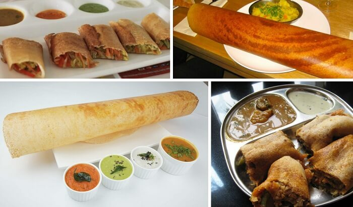 The popular dosas and Mysore Masala Dosa from Mumbai