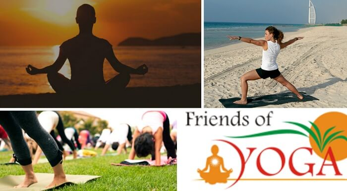 Yoga sessions by FOY are among the popular things to do in Dubai for free.