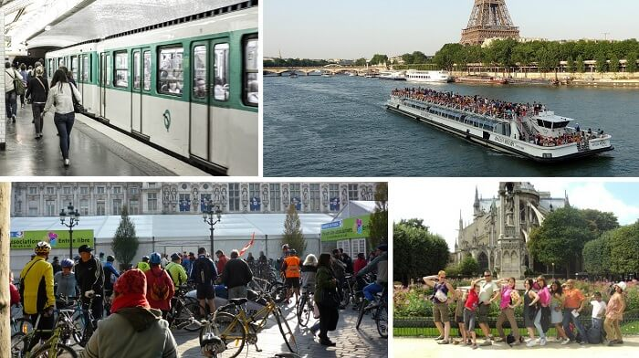 Travelling around in Paris