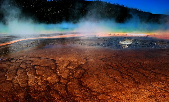 The scary looking Grand Prismatic Spring