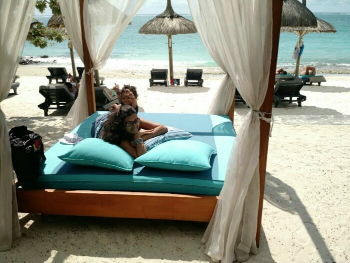 Relaxing at the hotel beach