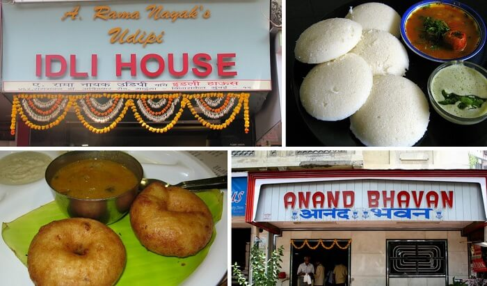 Steamed idlis and vadas are popular breakfast street foods in Mumbai