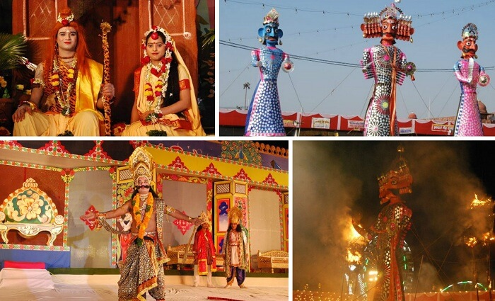 Multiple sights from Ramlila in Delhi organised by Nav Shree Dharmik Leela Committee
