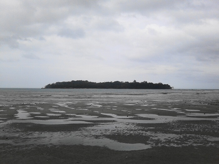 A view of the Ross Island from Port Blair
