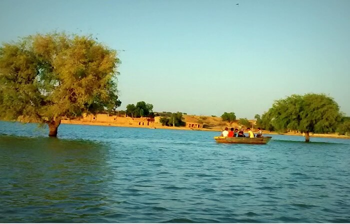 Boating at Gadisar Lake