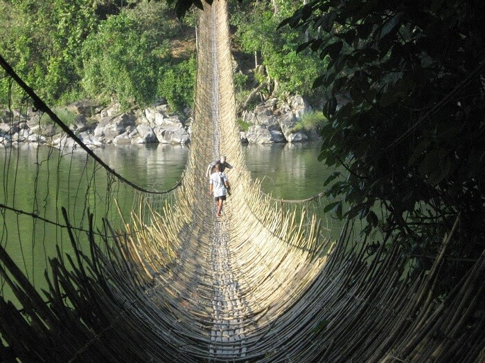 The suspended bridge of Damro in Arunachal Pradesh