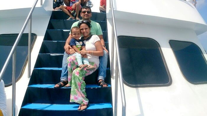 Apurva and family on a cruise