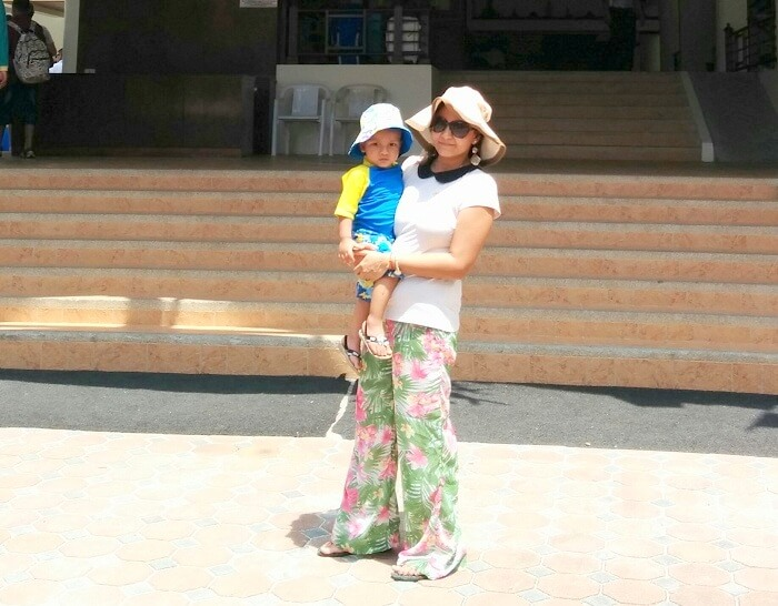 Apurva with her son in Phi Phi Island Thailand