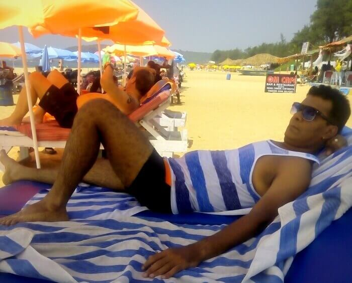 Relaxing at the beach in Goa