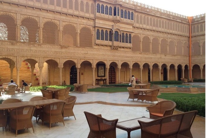 A place to relax at Raj Mahal