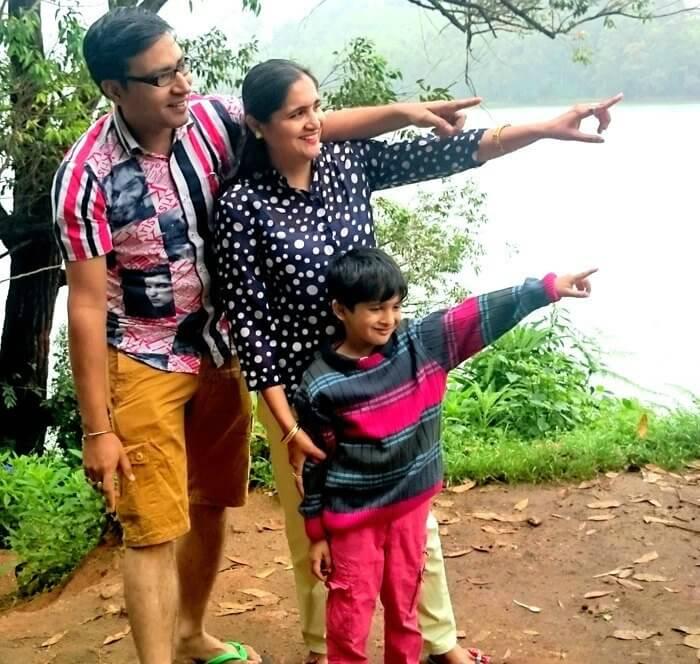 Beautiful Lake in Munnar, Kerala