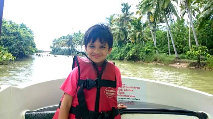 Marine boat ride in Kerala