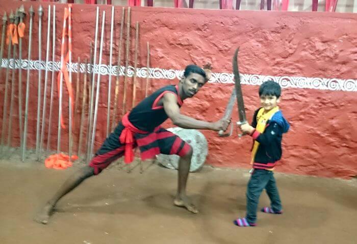 Vinits son enjoying a Martial arts performance