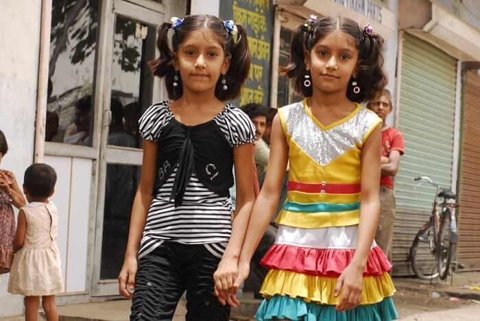 The twins at Mohammadpur Urmi which is considered to be one of the weirdest unexplored places in India