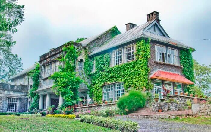 An early morning view of the spooky Morgan House Tourist Lodge at Kalimpong