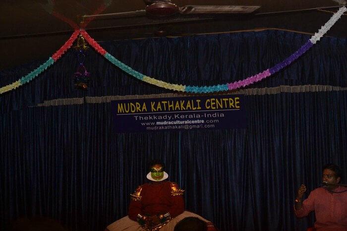 A Kathakali dancer performing in Thekkady
