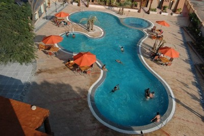 The pool at Papyrus Port Resort