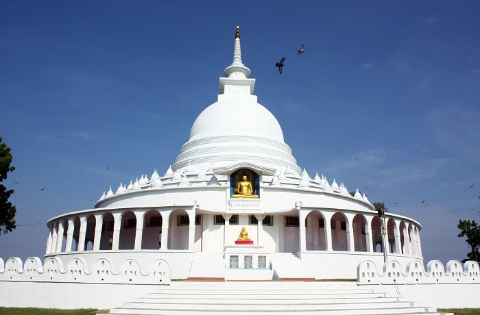 Peace Pagoda in Darjeeling is a famous name among darjeeling tourist places