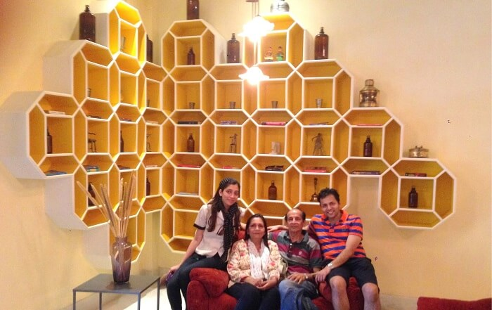 Family picture in Jaisalmer