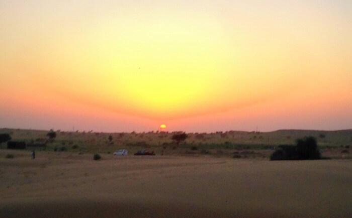 Sunset at Sam Sand Dunes
