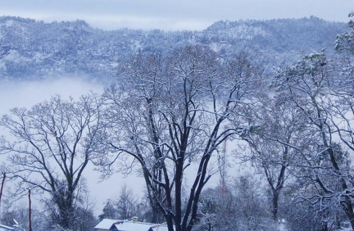 Almora is one of quieter places to experience snowfall in India