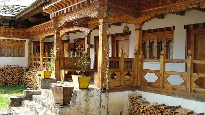 A view of the Swiss Guest House at Bumthang