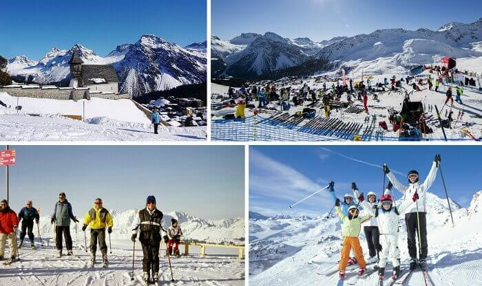 Scenes from the ski tours and hikes at Arosa