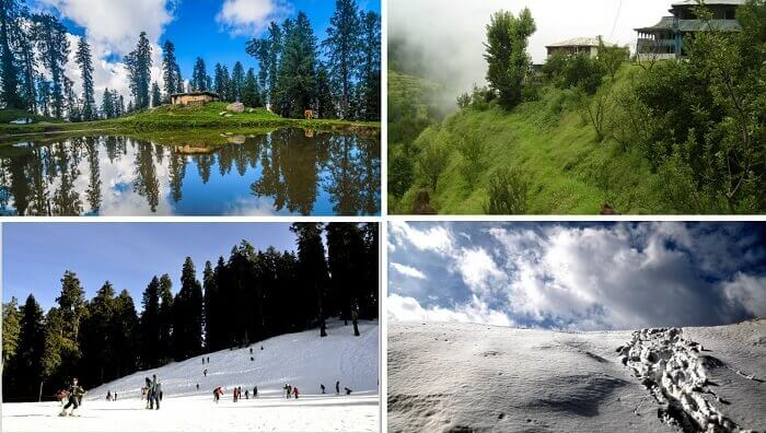 Beautiful views of the skiing activities and the serene surrounding at Narkanda
