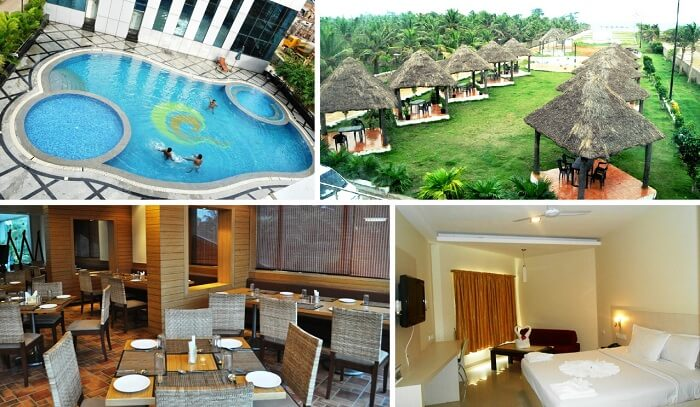 A collage of the many views at the Country Club Jade Beach Resort
