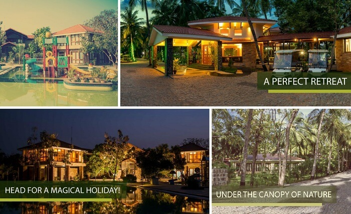 A collage of the many views at Esthell Village Resort