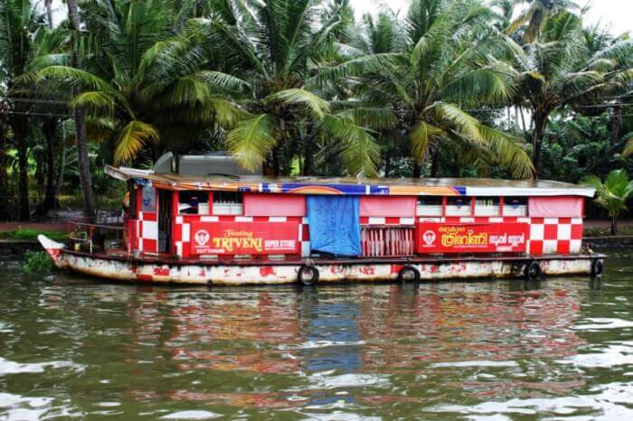 Alappuzha has the floating mall in Kerala