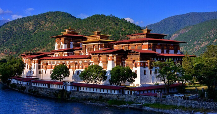 A beautiful shot at the Punakha Dzong