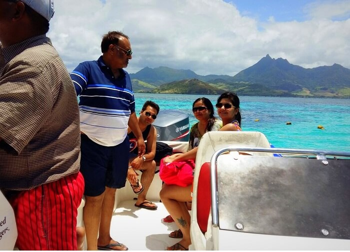 Speeding across the sea at Mauritius