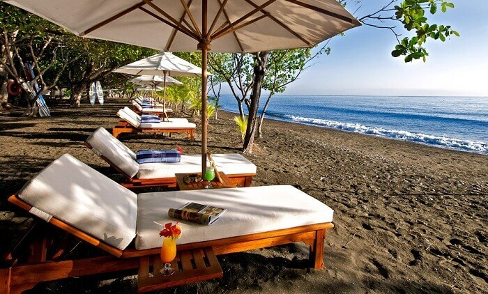 Matahari Beach Resort is one of the best Bali beach resorts because of its calm and secluded experience