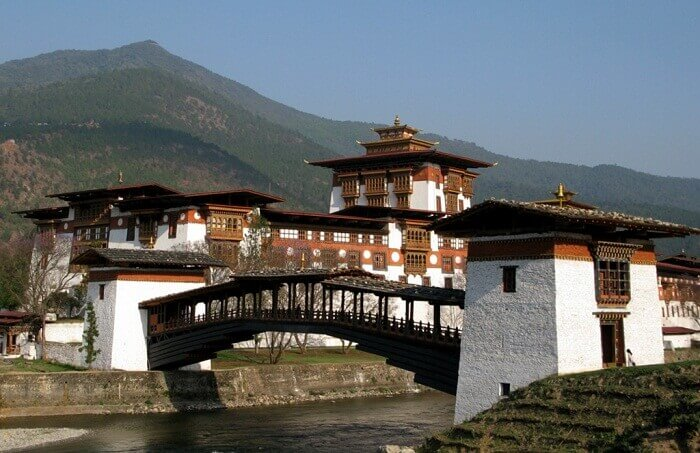 Punakha Dzong is one of the popular places to see in Bhutan